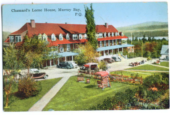 Image for Chamard's Lorne House Murray Bay Quebec Canada postcard 1940