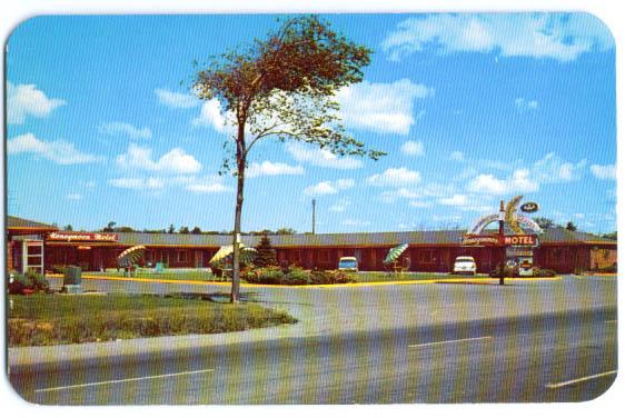Honeymoon Motel Niagara Falls NY postcard 1950s
