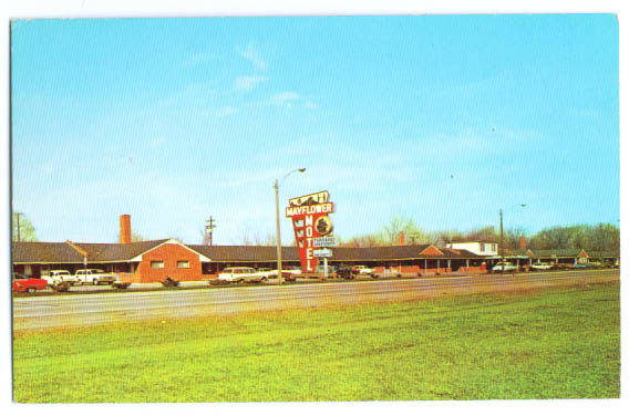 Image for Mayflower Motel Detroit MI postcard 1960s