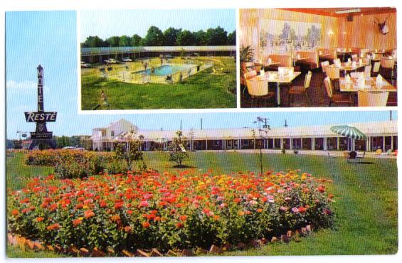 Resté Motel Emporia VA postcard 1950s