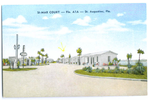 Image for Si-Mar Court motel postcard St Augustine FL