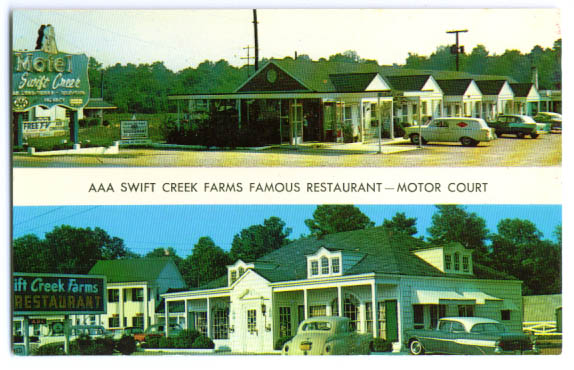 Image for Swift Creek Motel Petersburg VA postcard 1960s