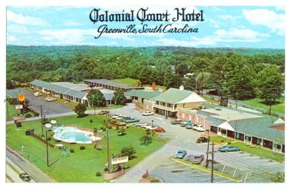 Image for Colonial Court Motel Greenville SC postcard