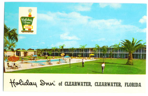 Holiday Inn Clearwater FL postcard 1960s