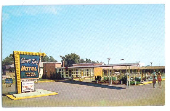 Image for Sleepy Time Motel Niagara Falls NY postcard