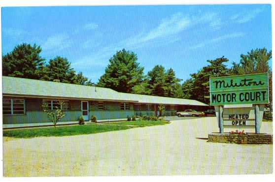 Milestone Motor Court Motel Ogunquit Postcard Ebay