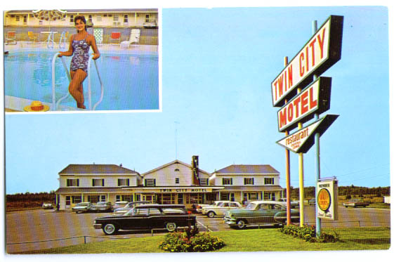 Twin City Motel Brewer ME postcard