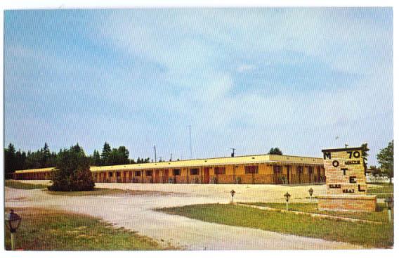 Image for Island View Lodge Motel St Ignace MI postcard 1960s