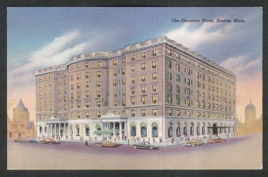 Image for Sheraton Plaza Hotel Boston postcard 1940s
