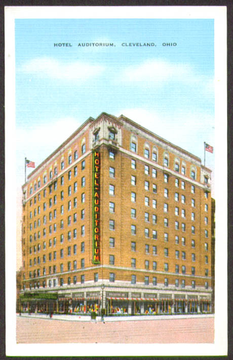Image for Hotel Auditorium Cleveland OH postcard 1940s