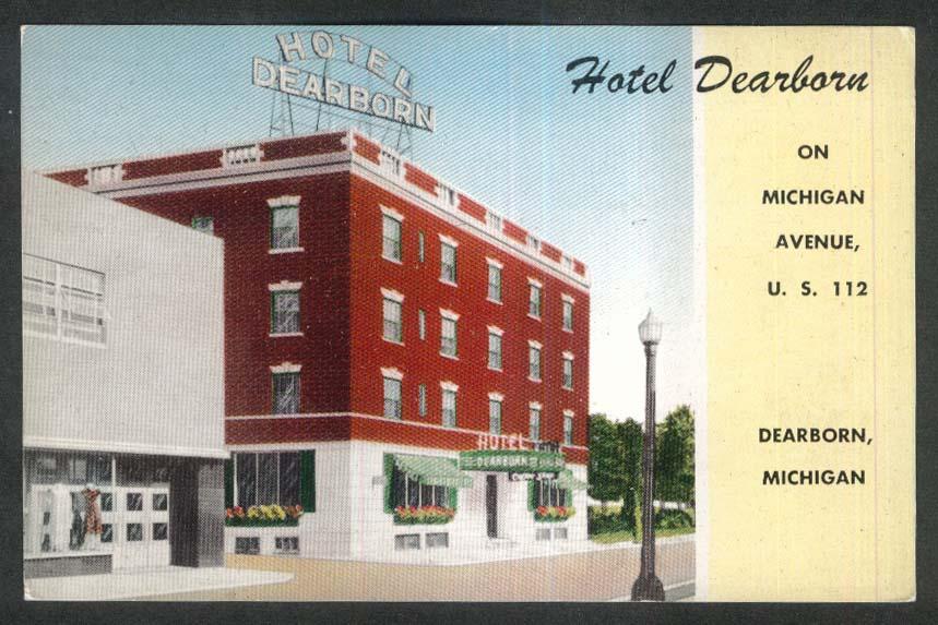 Image for Hotel Dearborn postcard Dearborn MI 1950s