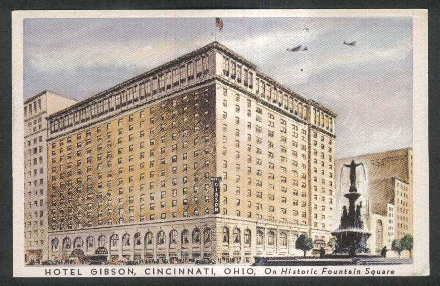Image for Hotel Gibson Cincinnati OH postcard 1947