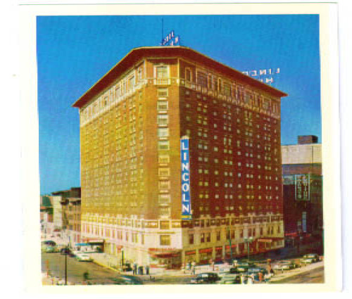 Hotel Lincoln Indianapolis postcard