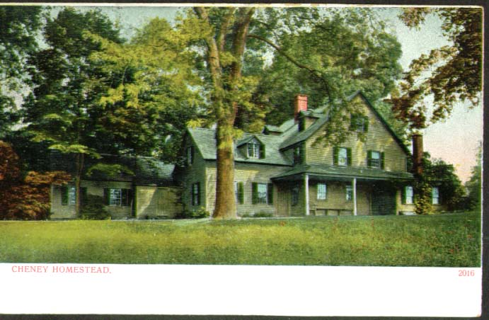 Image for Cheney Homestead Manchester CT postcard 1910s