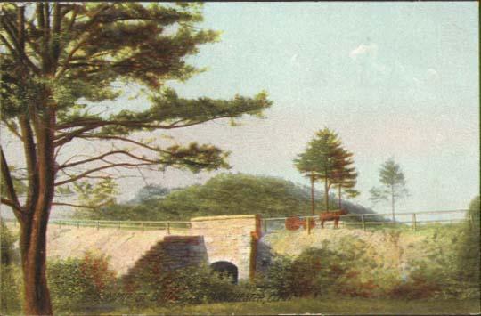 Image for Summit St Bridge Manchester CT postcard 1910s