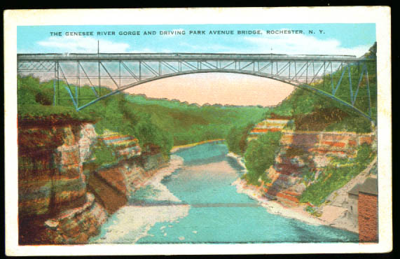 Park Avenue Bridge Rochester NY postcard 1910s