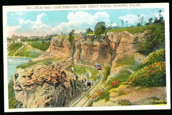 Image for Trolley Great Gorge Niagara Falls NY postcard