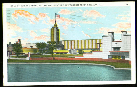 Hall of Science Chicago Century Progress postcard 1933