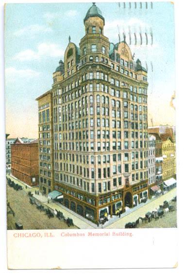 Columbus Memorial Building Chicago postcard 1908