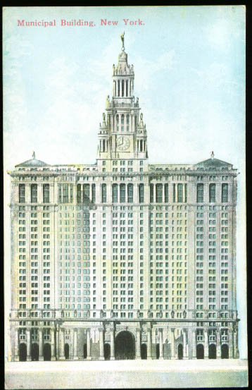 Image for Municipal Building New York City NY postcard 1910s