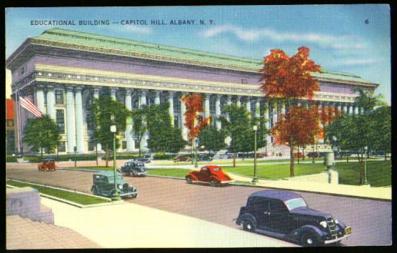 Educational Building Albany NY postcard 1940s