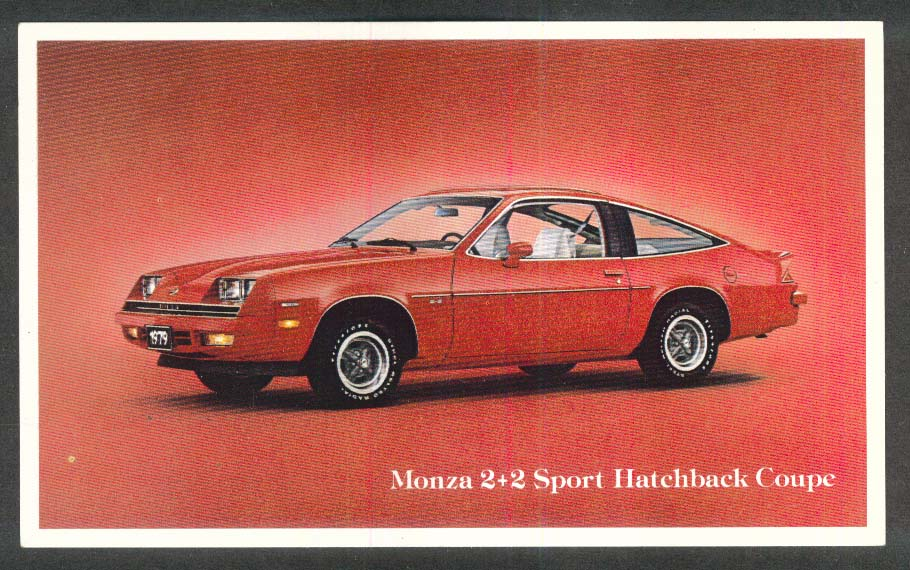 1979 Chevrolet Monza 2+2 dealer postcard