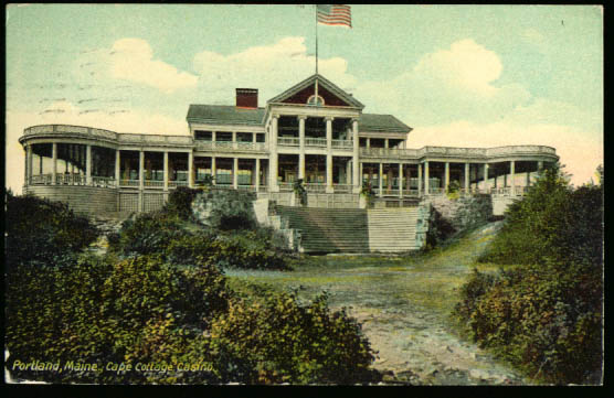 Cape Cottage Casino Portland ME postcard 1912