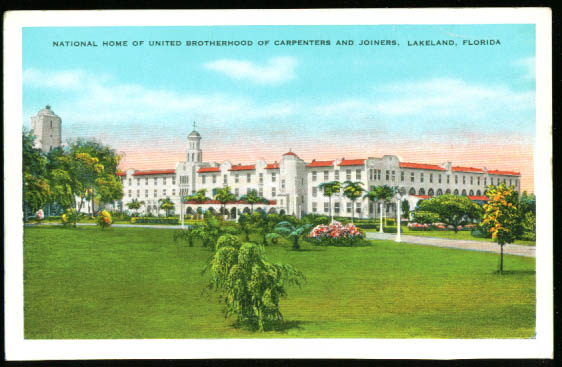 Carpenters Joiners Home Lakeland FL postcard