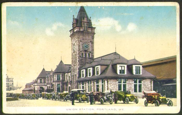 Union Railroad Station Portland ME postcard