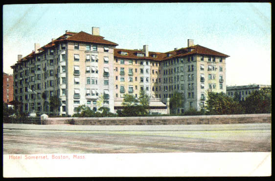 Hotel Somerset Boston MA undivided back postcard 1900s
