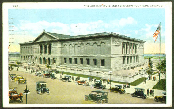Art Institute Chicago IL postcard 1922