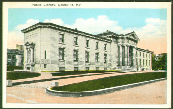 Public Library Louisville KY postcard 1910s