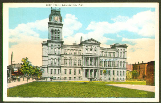 City Hall Louisville KY postcard 1910s