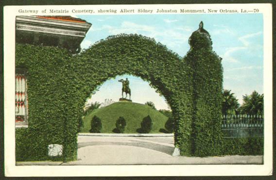Metairie Cemetery New Orleans LA postcard 1920s
