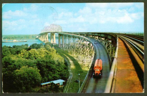 Huey P Long Bridge New Orleans LA postcard
