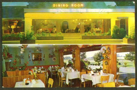Gamecock Motel Santee SC postcard 1961