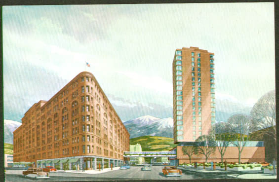 Brown Palace Hotel Denver CO postcard 1950s