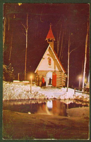 Santa's Chapel Wilmington NY postcard 1950s