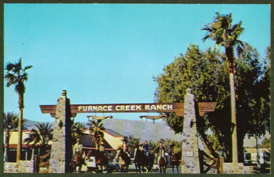 Furnace Creek Ranch Death Valley CA postcard 1950s