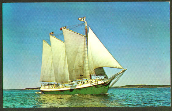 Windjammer Victory Chimes ME postcard 1950s