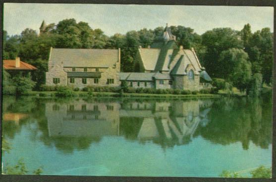 Trinity Episcopal Seneca Falls NY postcard 1940s