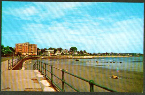 Waterfront Shore Drive Lynn MA postcard 1950s