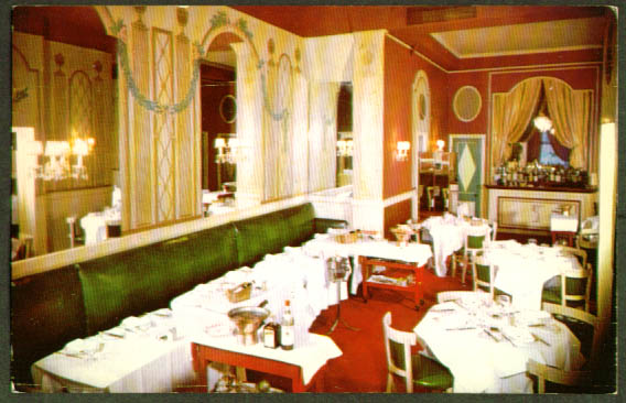 Newport Restaurant N Y City postcard 1950s