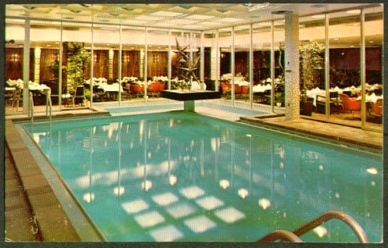 Pool Northstar Inn Minneapolis postcard 1950s