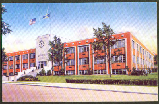 Goodyear Research Lab Akron OH postcard 1950s