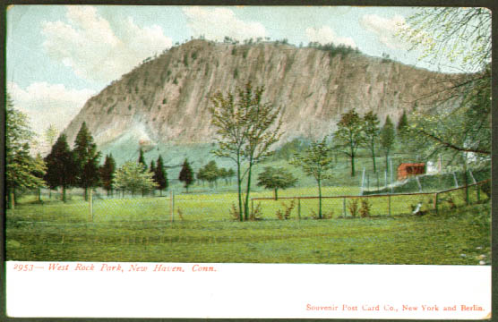 West Rock Park New Haven CT undivided back postcard 1900s