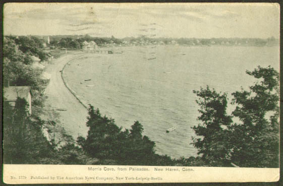 Morris Cove from Palisades New Haven CT undivided back postcard 1905