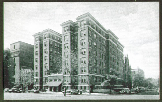 New Colonial Hotel Washington DC postcard 1940s