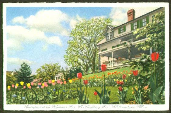 Williams Inn Williamstown MA postcard 1960s