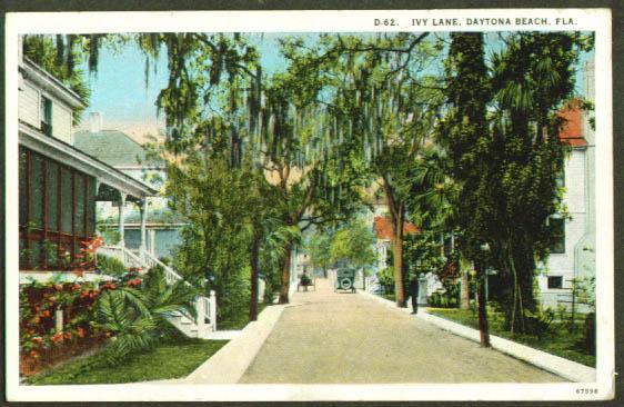 Ivy Lane Daytona Beach FL postcard 1910s